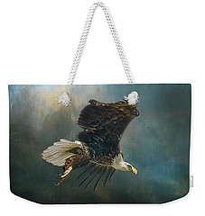 Bald Eagle Swooping Weekender Tote Bag