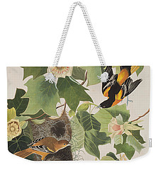Baltimore Oriole Weekender Tote Bag by John James Audubon