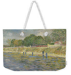Weekender Tote Bag featuring the painting Bank Of The Seine Paris, May - July 1887 Vincent Van Gogh 1853 - 1890 by Artistic Panda