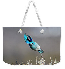 Weekender Tote Bag featuring the photograph Bank Right by Mike Dawson