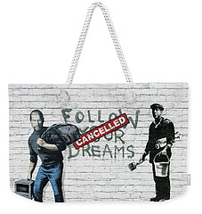 Banksy - The Tribute - Follow Your Dreams - Steve Jobs Weekender Tote Bag