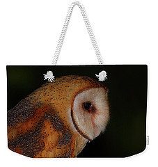 Barn Owl Profile Weekender Tote Bag