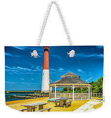 Weekender Tote Bag featuring the photograph Barnegat Lighthouse Park by Nick Zelinsky