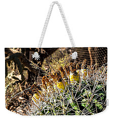 Weekender Tote Bag featuring the photograph Barrel Cactus by Lawrence Burry