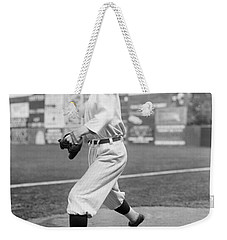 Baseball Star Walter Johnson Weekender Tote Bag by Underwood Archives