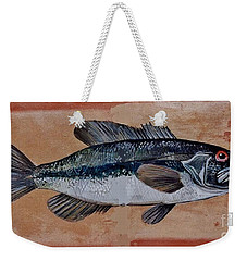 Weekender Tote Bag featuring the painting Bass by Andrew Drozdowicz