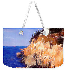 Bass Harbor Lighthouse,acadia Nat. Park Maine. Weekender Tote Bag