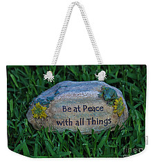 Weekender Tote Bag featuring the photograph 1- Be At Peace by Joseph Keane