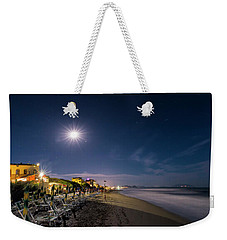 Weekender Tote Bag featuring the photograph Beach At Night - Spiaggia Di Notte by Enrico Pelos