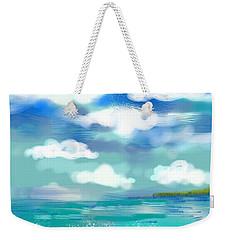 Beach Birds Weekender Tote Bag by Elaine Lanoue
