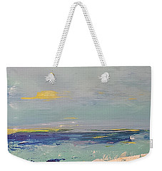 Weekender Tote Bag featuring the painting Beach by Diana Bursztein