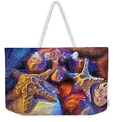 Weekender Tote Bag featuring the photograph Beach Finds by Walt Foegelle