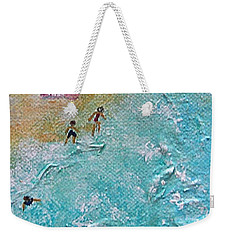 Weekender Tote Bag featuring the painting Beach1 by Diana Bursztein