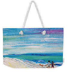 Weekender Tote Bag featuring the painting Beach8 by Diana Bursztein