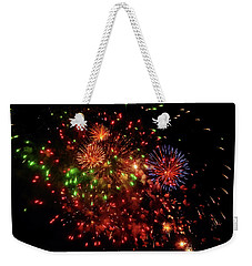 Beautiful Fireworks Against The Black Sky Of The New Year Weekender Tote Bag