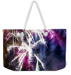 Beautiful Fireworks In Budapest Hungary Weekender Tote Bag