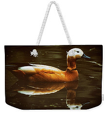 Weekender Tote Bag featuring the photograph Beautiful Rust Goose by The 3 Cats