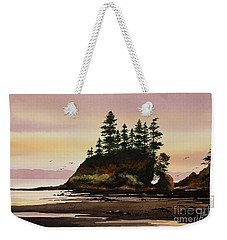 Weekender Tote Bag featuring the painting Beautiful Shore by James Williamson