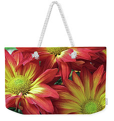 Weekender Tote Bag featuring the photograph Beautiful Trio by Allen Beatty
