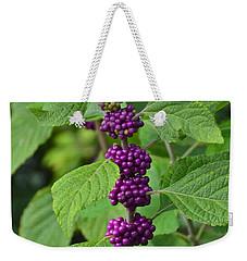 Beautyberry Weekender Tote Bag by Carol  Bradley