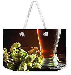 Beer And Hops On Barrel Weekender Tote Bag