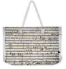 Beethoven Manuscript Weekender Tote Bag