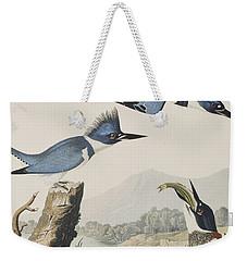 Belted Kingfisher Weekender Tote Bag by John James Audubon