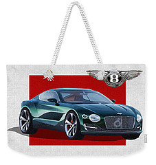 Bentley E X P  10 Speed 6 With  3 D  Badge  Weekender Tote Bag