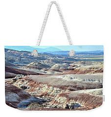 Bentonite Clay Dunes In Cathedral Valley Weekender Tote Bag by Ray Mathis