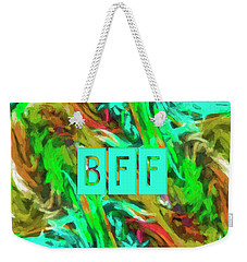 Weekender Tote Bag featuring the photograph Best Friends Forever by Bonnie Bruno