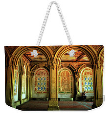 Weekender Tote Bag featuring the photograph Bethesda Terrace Arcade by Jessica Jenney