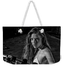 Biker Chick Weekender Tote Bag by Kevin Cable
