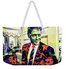 Bill Clinton Weekender Tote Bag by Svelby Art