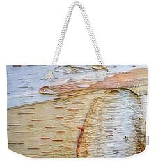 Birch Tree Bark Weekender Tote Bag