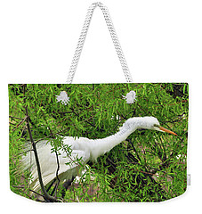 Bird In A Bush Weekender Tote Bag