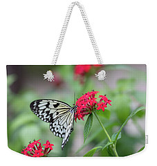 Black And White Butterfly  Weekender Tote Bag