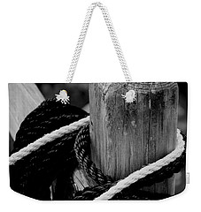 Weekender Tote Bag featuring the photograph Black And White by Corinne Rhode