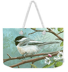 Black Cap Chickadee Weekender Tote Bag