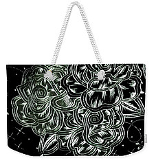 Black Flower Weekender Tote Bag