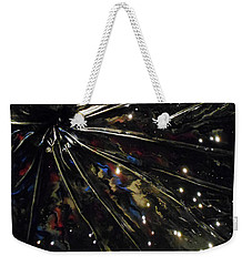 Weekender Tote Bag featuring the mixed media Black Hole by Angela Stout