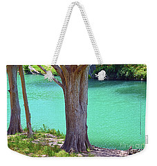 Blanco River Texas Weekender Tote Bag by Ray Shrewsberry