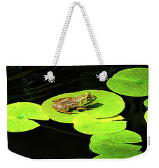 Weekender Tote Bag featuring the photograph Blending In by Greg Fortier