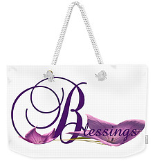 Blessings Weekender Tote Bag by Ann Lauwers