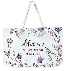 Weekender Tote Bag featuring the painting Bloom by Elizabeth Robinette Tyndall