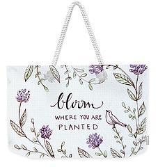 Bloom Weekender Tote Bag by Elizabeth Robinette Tyndall