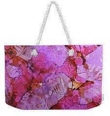 Weekender Tote Bag featuring the painting Blossoms Ink #1 by Sarajane Helm