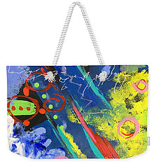 Blue Abstract Weekender Tote Bag