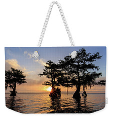 Blue Cypress Lake Morning Weekender Tote Bag
