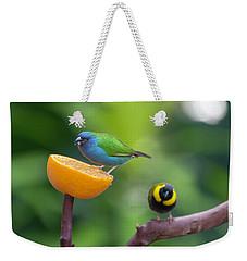 Blue-faced Parrotfinch Weekender Tote Bag