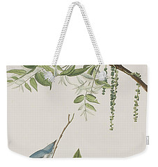 Blue Grey Flycatcher Weekender Tote Bag by John James Audubon
